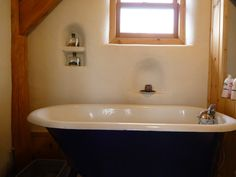 Bale Straw Design, Pictures, Remodel, Decor and Ideas - page 8 Straw Bales, First Home, Clawfoot Bathtub, House Styles, Adobe, Bathrooms, Houses, Design, Pictures