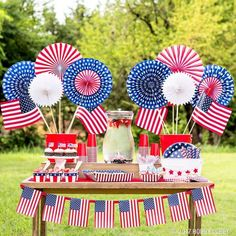 Plan the perfect of july bash with our patriotic party ware! Fourth Of July Decor, 4th Of July Celebration, 4th Of July Decorations, 4th Of July Party, Americana Decorations, July 4th Wedding, Outdoor Decorations, Birthday Decorations, Wedding Decorations