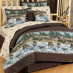 Shop Today at Crystal Creek Decor for a Wide Selection of Rustic Bedding, Lodge Bedding, Cabin Bedding, Sports Bedding, Wild Life Bedding and many more. We carry all the brand names including River Fishing Bedding. Full Comforter Sets, Bedding Sets, Bedding Decor, Camo Bedding, Twin Comforter, Bed Furniture, Rustic Furniture, Furniture Online, Rustic Comforter
