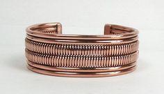 Authentic Native American Contemporary Navajo Copper  Bracelet