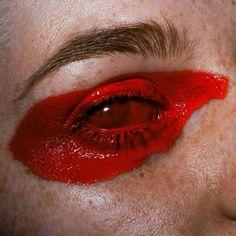 """🔴🔴🔴// model & mua: (no photoshop) // Foto Portrait, Portrait Art, Eye Photography, Photography Collage, No Photoshop, Aesthetic Art, Aesthetic Vintage, Death Aesthetic, Red Aesthetic Grunge"
