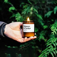 Balsam & Cedar Scented Soy Candle by SamuelParrisUK on Etsy