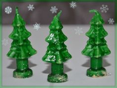 Vintage Christmas Candle ~ Gurley Christmas Tree Trio