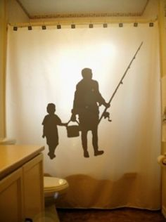 family fishing shower curtain kids by on etsy