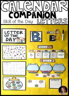 Letter of the Day Calendar Companion~Large Group Alphabet Activities for Preschool and Kindergarten