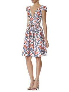 Carolina Herrera - Floral V-Neck Dress