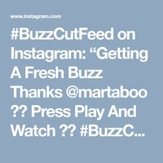 "#BuzzCutFeed on Instagram: ""Getting A Fresh Buzz Thanks @martaboo 😍🖤 Press Play And Watch ▶️ #BuzzCutFeed #UCFeed #Haircut #Undercut #Undercuts #Buzzed #ShavedNape…"" • Instagram"