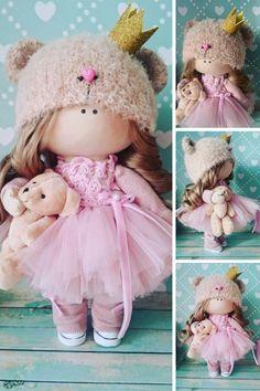 Handmade doll Muñecas Art doll Fabric doll Rag doll Baby doll Pink doll Tilda doll Cloth doll Baby doll Interior doll Textile doll by Elvira __________________________________________________________________________________________ Hello, dear visitors! This is handmade cloth