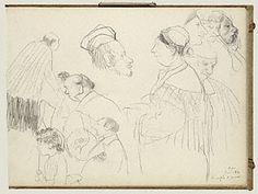 Page of Degas sketchbook, Getty Museum