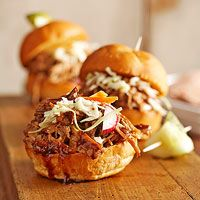 Make ahead, perfect for an outdoor  buffet - Balsamic Honey Pulled Pork Sliders