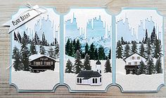 Click to Enlarge Christmas Scenes, Christmas Tag, Marianne Design, Creative Cards, Hanukkah, Card Making, October, Seasons, Winter
