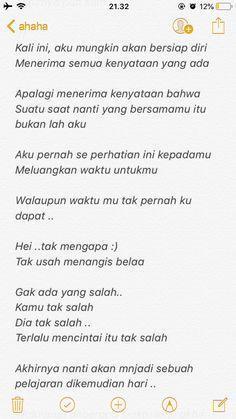 Quotes Rindu, Snap Quotes, Story Quotes, Tumblr Quotes, Text Quotes, Mood Quotes, Life Quotes, Secret Crush Quotes, Quotes Galau