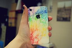 What do you do when your iphone shatters? Color the cracks duh!