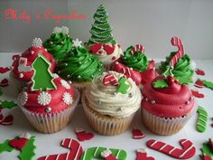 Como decorar cupcakes para Navidad.