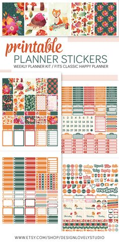 Happy Planner Printable Planner Stickers Kit