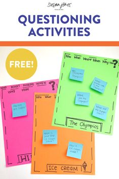 Learn how to teach questioning to primary readers with these fun and free activities! See the ideas and grab the engaging freebies over on the blog!
