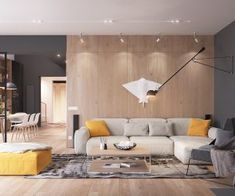 'Minimal Interior Design Inspiration' is a weekly showcase of some of the most perfectly minimal interior design examples that we've found around the web - all Loft Interior, Living Room Interior, Home Living Room, Home Interior Design, Interior Architecture, Living Room Designs, Living Spaces, Interior Ideas, Bedroom Designs