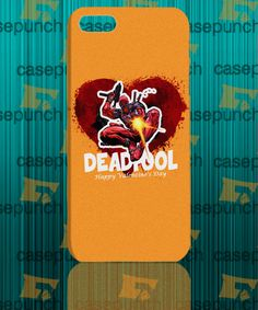 Mz3-spiderman Hearts Deadpool In Valentine For Iphone 6 6 Plus 5 5s Galaxy S5 S5 Mini S4 & Other Smartphone Hard Back Case Cover