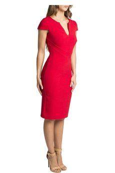 Cambridge Red Pencil Dress