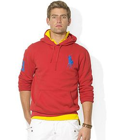 Polo Ralph Lauren Hoodie, Big Pony Beach Fleece Pullover Hoodie - Hoodies Fleece - Men