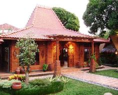 Trendy home exterior design traditional interiors Ideas Roof Design, Exterior Design, House Design, Traditional Interior, Traditional House, Home Design Plans, Home Interior Design, Indonesian House, Eco Buildings