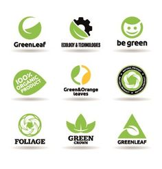 ECO Logos Creative Design Vector 02