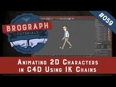 Brograph Tutorial 059 - Animating 2D Characters from Illustrator in C4D using IK Chains - YouTube