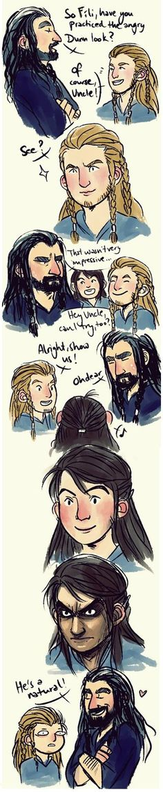 Kili and his angry eyebrows. By agehachou. How I love this.