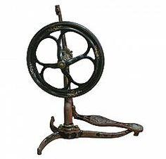 Ornate Victorian Spinning Wheel : Aurora Mills Architectural Salvage