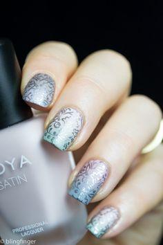 Zoya Naturel Satins Nail Art
