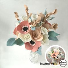 Now introducing inspired by bouquets! These pretty felt flowers don't just come out of nowhere - there are so many beautiful inspirations to draw from! ellywise studios inspiration source - martha stewart weddings