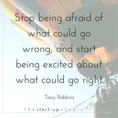 Starting a business and being an entrepreneur is all about taking the right risks. Tony Robbin's inspirational quote is spot on, be excited, be motivated #inspirationalquotes #entrepreneurquotes