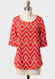 moving on geometric print blouse