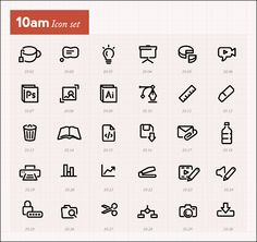 Icons by hour
