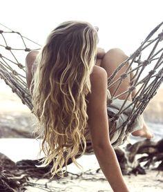 Wavy Beach Hair