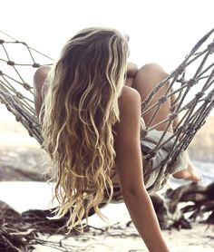 the most perfect beach hair