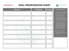 This Is Goal Tracking Template   A Size  Inches X