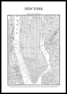 new york city map map of manhattan new york print map poster nyc map new york map manhattan map street map map of nyc pinterest manhattan map