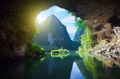 The Grotto. Tam coc national park. Vietnam
