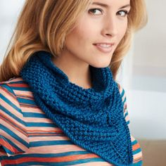 The Quick Knit Kerchief is a great alternative to the more widely seen scarf or knit cowl patterns, and its smaller size means that it knits up quickly.