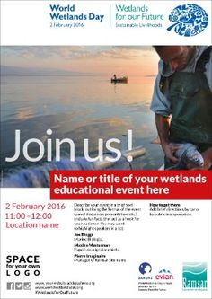 February 2 - World Wetlands Day World Wetlands Day, Future Days, February, Education, Onderwijs, Learning