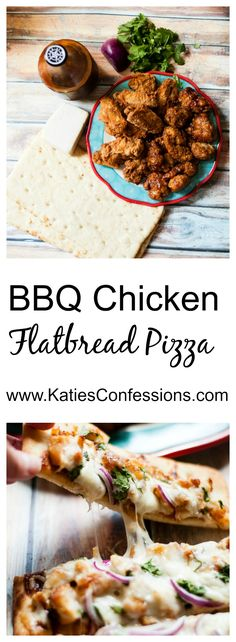 Ad: BBQ chicken flatbread pizza is easy and comes together in minutes - make it for your next gathering and you'll have some happy football watching fanatics! #GameTimeHero #CollectiveBias