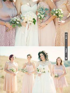 peach bridesmaid dresses | CHECK OUT MORE IDEAS AT WEDDINGPINS.NET | #bridesmaids