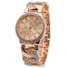 5bae8064711 Novo luxo mulheres relógios de aço inoxidável relógio de moda relógio de  quartzo relógio de ouro