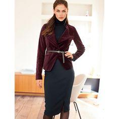 La tendance velours La veste en velours bordeaux La Redoute