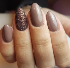 Fall Nails // Winter Nails // Almond Shaped Nails // Nude Nails // A . - Fall Nails // Winter Nails // Almond Shaped Nails // Nude Nails // Accent Nail Best Picture For Be - Nude Nails, My Nails, Neutral Gel Nails, Beige Nails, Soft Nails, Light Nails, Sugar Nails, Uñas Fashion, Almond Shape Nails