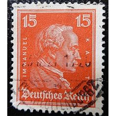 Germany, Philosopher, Imanuel Kant, 15 Pfg, 1926 used Hindu Art, Rare Coins, Antique Shops, Southeast Asia, Buddha, Stamps, Germany, Antiques, Seals