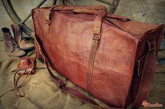 """Leather Travel Bag 28"""" / Leather Duffle Bag / Leather Sports Bag / Gym Bag / Cabin Travel Bag / Weekender Bag / Overnight Bag / Leather Bag"""