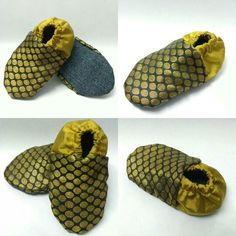Black and Gold, juti-booties for kids. #Skips
