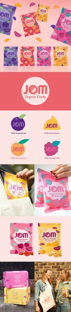 JOM Organic Candy - Sweet Packaging Design & Branding by Mystery Ltd #packagingdesign #foodpackaging #design #branding